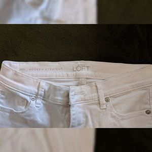 LOFT Jeans - LOFT White Modern Straight Jeans